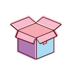 Open box pack to delivery services vector