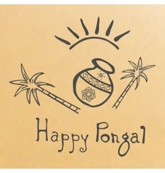 Pongal grunge rubber stamp on white background vector