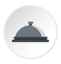 Restaurant cloche icon circle vector