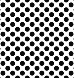 Seamless black white polka dot pattern vector