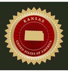 Star label Kansas vector image