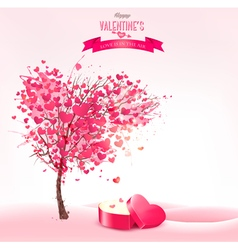 Valentines day background with an heart shaped vector