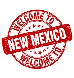 welcome to New Mexico vector image vector image