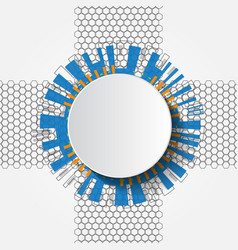 White abstract futuristic technology circle vector