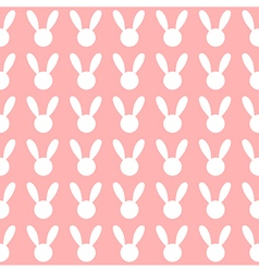 White Rabbit Pink Background vector image