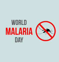 World malaria day style background vector