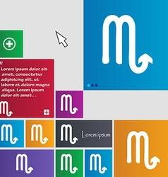Scorpio icon sign buttons modern interface website vector