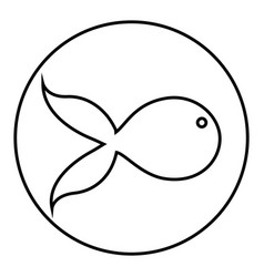 Figure emblem fish icon vector