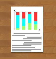 color bar chart vector image