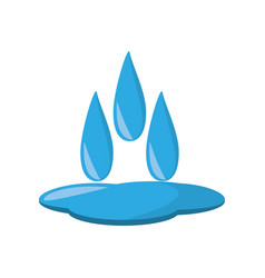Water ecological resourse isolated icon vector