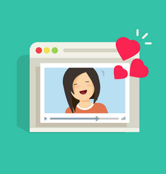 Online remote dating concept video communication vector