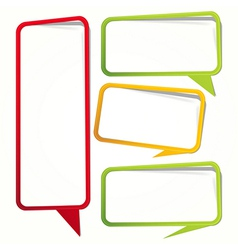Empty dialogue frame sticker vector