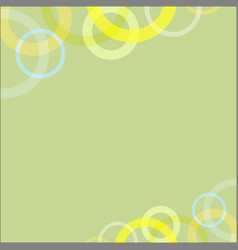 Abstract circle loop on green soft background vector