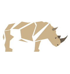 Isolated abstract rhino vector