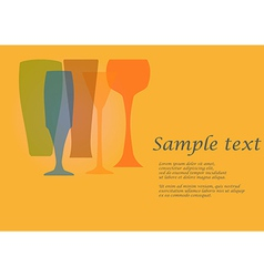 Four glasses vector
