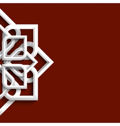 Arabic 3d white ornament vector