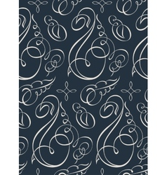 Seamless wallpaper vintage calligraph vector