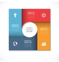 Square template for infographics vector