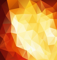 Yellow orange fire polygonal triangular pattern vector