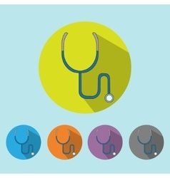 Medical icon stethoscope tool vector