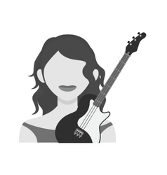 Artist female vector