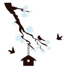 Birds house vector image