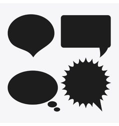 Black and white message bubble speech editable vector