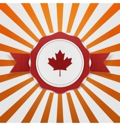 Canada patriotic emblem with ribbon vector