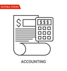 accounting icon thin line vector image