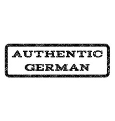 authentic german watermark stamp vector image vector image
