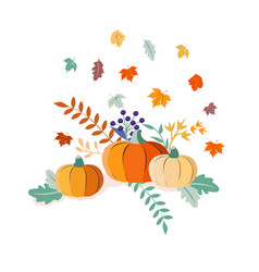Autumn harvest and thanksgiving day poster design vector