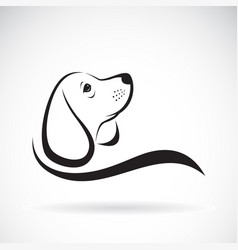 beagle dog design on white background pet vector image