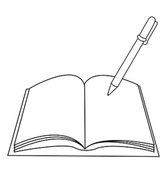 Book Pen vector image