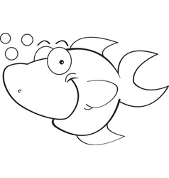 Cartoon Happy Fish vector image