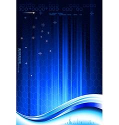 Dark blue composition vector image vector image
