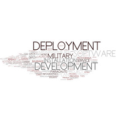 Deployment word cloud concept vector