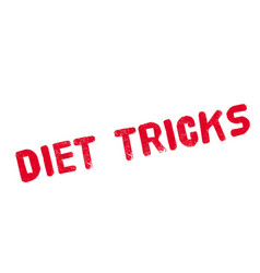 diet tricks rubber stamp vector image