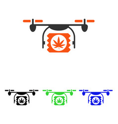 Drugs drone shipment flat icon vector