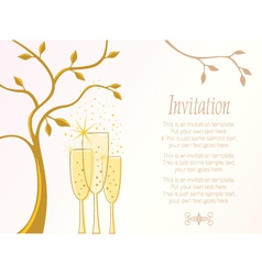 Elegant invitation template vector