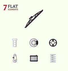 Flat parts set of windshield heater crankshaft vector