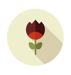 Flower flat icon vector
