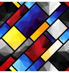 Geometric pattern in mondrian style vector