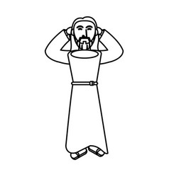 Jesus christ religious catholicism outline vector