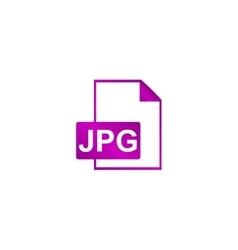 Jpg icon file vector image