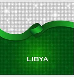 Libya flag ribbon shiny particle style vector