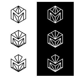 M letter logo design business logo vector