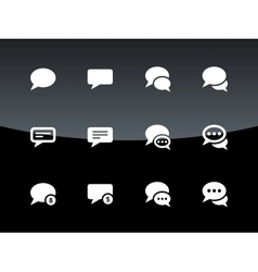 Message bubble icons on black background vector image vector image