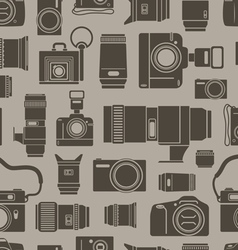 Modern and retro photo technics vector image vector image