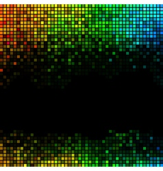 Multicolor abstract lights disco background vector image