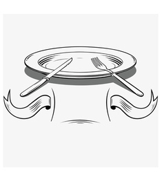 Plates and cutlery vector
